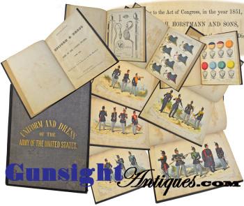 Rarely seen!   Horstman & Sons 1851 - U S Army UNIFORM BOOK (Image1)