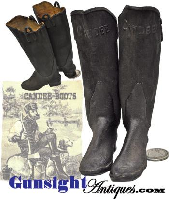 c. 1800s miniature - Salesman Sample Rubber Boots (Image1)