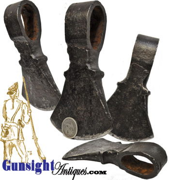 1700s earlier 1800s hand forged - BELT AXE HEAD (Image1)
