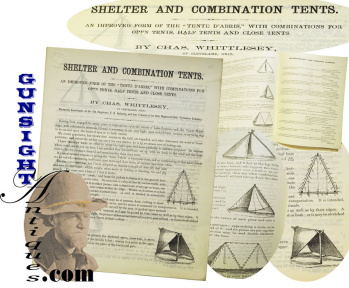 Rare Civil War Vintage Promotional For The - Whittlesey Army Tent (20th Ohio Infantry)