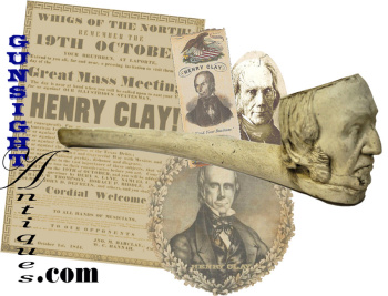Rare Period Henry Clay Figural Tobacco Pipe