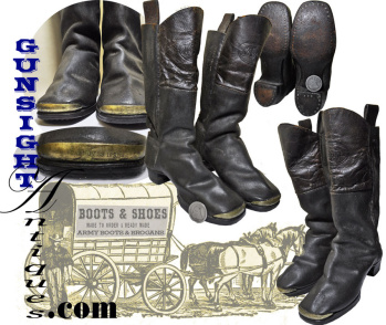 Outstanding Civil War Era 'quarter Size' Boots