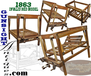 '1863 Invalid Bed' Civil War Hospital Bed - Design Model