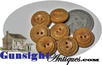 antique natural VEGETABLE IVORY BUTTON set (Image1)