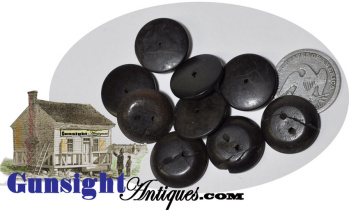 late 1700s early 1800s  hand-cut BURL WALNUT BUTTONS  (Image1)