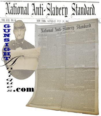 July 1861 paper: National Anti-Slavery Standard (Image1)