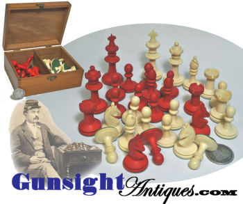 Victorian Era Antique - Bone Chess Set