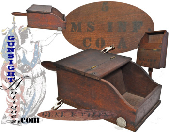 Original!  5th Mass. Infantry- BALLOT BOX - (Co. A Drummer Eugene F. Viles) (Image1)