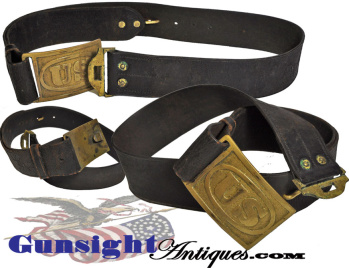 Indian War vintage Pattern of 1874 U. S. Waist Belt (Image1)