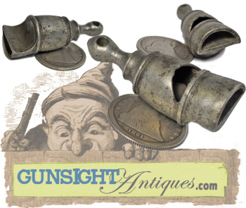 Civil War Vintage Pewter Whistle