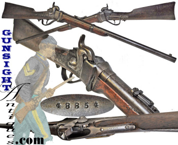 New Model 1859 Sharps Carbine #48854 - (6th New York Cavalry - Issue Range)