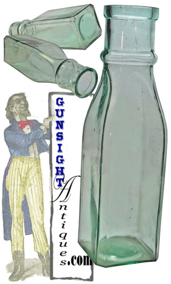 19th century aqua PICKLE BOTTLE (Image1)