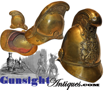 Antique LONDON FIRE BRIGADE HELMET (Image1)