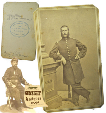 Civil War CDV - Identified! 8th Maine Infantry Officer – DIED OF WOUNDS (Image1)