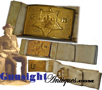 original Civil War veteran – G. A. R. WAIST BELT & PLATE  (Image1)