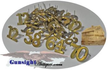 Original Civil War – one piece / two digit -  REGIMENTAL NUMERALS (Image1)