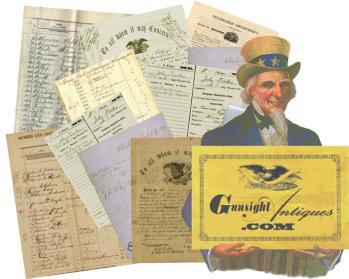Civil War MAINE DOCUMENTS  – MISCELLANEOUS MAINE CIVIL WAR MILITARY PAPER  (Image1)