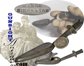 Antique - PEWTER MEDICINE SPOON (Image1)