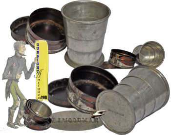 Extra nice!  Civil War vintage cased TELESCOPING CUP (Image1)