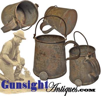 Civil War vintage sheet iron COOK POT / CUP (Image1)