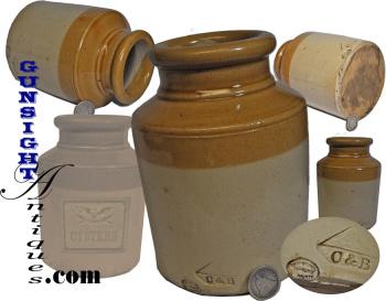 19th century -- Skey's - Wilnecote Works - STONEWARE OYSTER JAR (Image1)