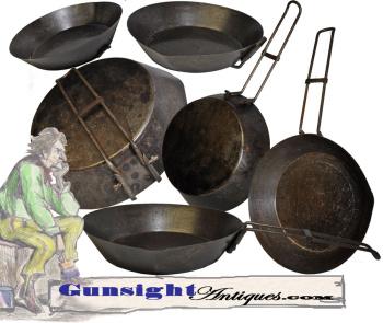 19th century folding – FRY PAN (Image1)
