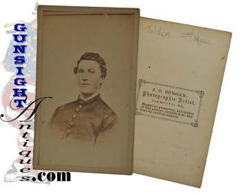 rare early Civil War CDV !    16th Maine Col. then General Charles Tilden - as a 2nd Maine  1st Lt.  (Image1)