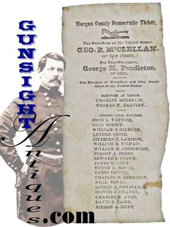 Mjr. General George B. McClellan - 1864 U. S. Presidential Ticket (Image1)