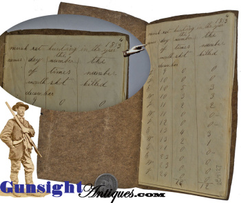 hand crafted - season of 1853 MUSKRAT HUNTING & TRAPPING RECORD  (Image1)