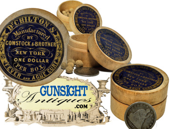 Original!  c. 1853 / 1862 Dr. CHILTON'S – COMSTOCK & BROTHER - FEVER PILLS (Image1)
