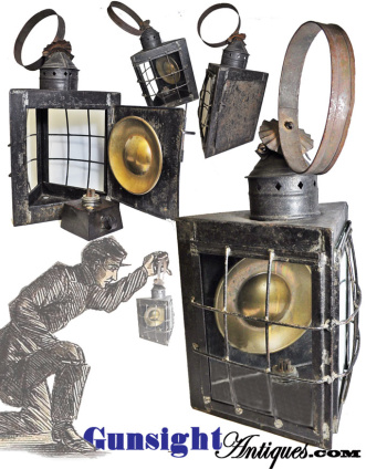 earlier to mid 1800s Whale Oil LANTERN (Image1)