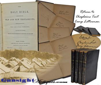 Gettysburg – Camp Letterman Chaplain's Tent – 4 Volume BIBLE   (Image1)