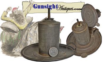 c. 1840 / 1850  tin HAND LAMP (Image1)
