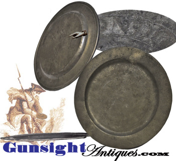 18th Century Pewter Mess Plate  (Image1)