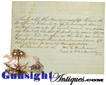 Capt. Wm. K. Bachman – SIGNED - S. C. V. Light Artillery of Hampton's Legions - VOUCHER (Image1)