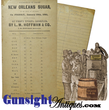 1861 - L. M. Hoffman & Co. - AUCTION BID CARD – Prime New Orleans Sugar (Image1)