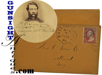 20th MAINE SURGEON  Dr. Abner O. Shaw -  SELF ADDRESSED Postal Cover (Image1)