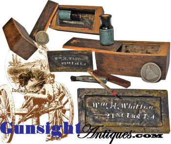 21st Indiana Light Artillery - Sargent's PERSONAL STENCIL KIT (Image1)