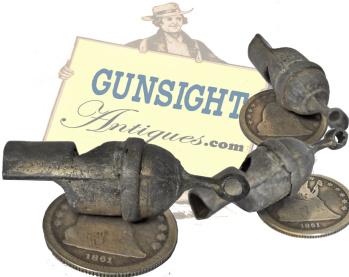 Civil War vintage PEWTER WHISTLE (Image1)