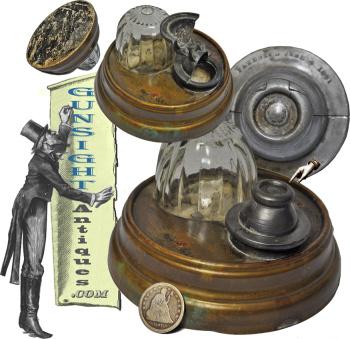 Civil War era Pat. June 4, 1861 – INKWELL  (Image1)