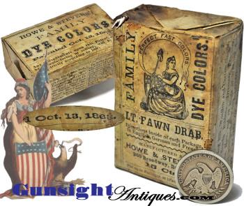 unopened - Howe & Stevens Civil War vintage - DYE PACKET (Image1)