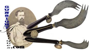 Civil War vintage – Pat. 1861 -  AMPUTEE KNIFE & FORK (Image1)
