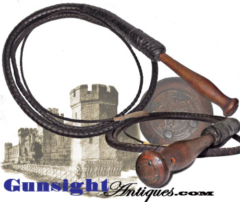 19th century - West Virginia Penitentiary made - DROVER WHIP (Image1)