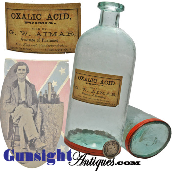Confederate Hospital & Dispensary Site - S.c. Apothecary Bottle