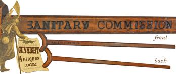 Civil War vintage SANITARY COMMISSION - CRUTCH (Image1)
