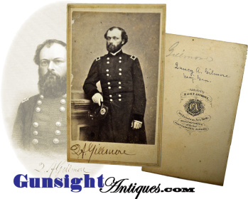 Civil War vintage SIGNED Gen. Q. A. Gillmore E. & H. T. Anthony CDV (Image1)