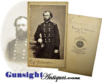 Civil War vintage SIGNED Gen. Q. A. Gillmore E. & H. T. Anthony CDV (Image1)