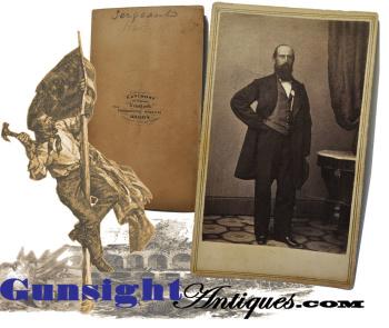 scarce! Civil War vintage – Hero of Fort Sumter / Peter Hart CDV (Image1)