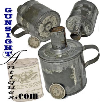 Civil War vintage Condensed Milk Tin -  LIGHTING DEVICE (Image1)
