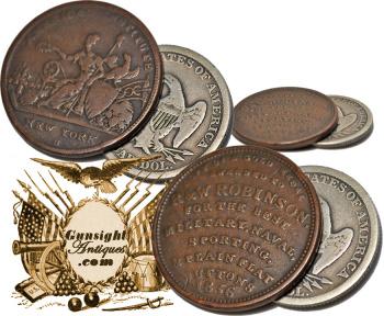 1836 R. & W. Robinson / Military Button – TRADE TOKEN (Image1)